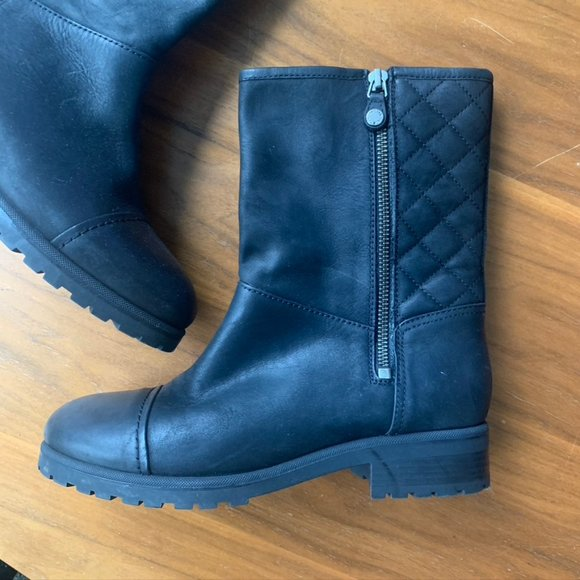 GEOX Womens Black Leather Boots - Like New! Size 7
